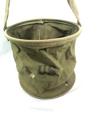 WWII WW2 US U.S. Water Carrier,Army,Canvas,Original,Dated,Field,Soldier,Horse
