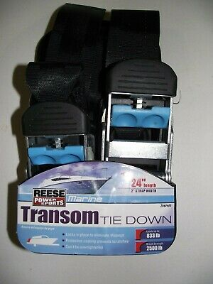 """2 Reese Anchor Powersport Transom Tie Down RV Trailer Camper Boat Hook Strap 24/"""""""