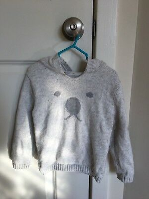 bf219196ee3f5 Preowned The Little White Company London Boy Toddler 3-4 yrs Hoodie Bear  Sweater