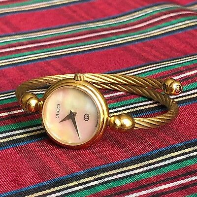 a90b9799d5f vintage GUCCI gold plated women s watch w  mother of pearl face Swiss made