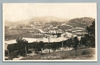Baguio City RPPC Rare Antique Philippines RPPC Antique Photo US Military~1920