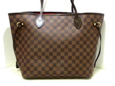 49865ddbce91 AUTH LOUIS VUITTON Neverfull MM Damier Ebene Tote Bag Shoulder Bag ...