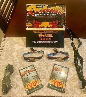 2019 Welcome To Rockville Tickets (2)- Friday Vip Wristbands -5/3- Korn Chevelle