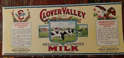 BORDEN/'S SILVER COW #4 EVAPORATED MILK CAN LABEL VINTAGE 1970 ELSIE THE COW OHIO