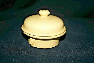 Vintage Stoneware Terrine Brevetee Simplex Yellow  Pot #15 Covered Dish Lion VTG