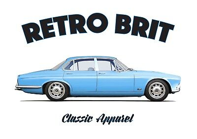 JAGUAR XJ-6 series 1 t-shirt. RETRO BRIT , CLASSIC CAR, BRITISH LEYLAND, XJ6.