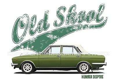 HUMBER SCEPTRE t-shirt. OLD SKOOL. CLASSIC CAR. MODIFIED. RETRO.