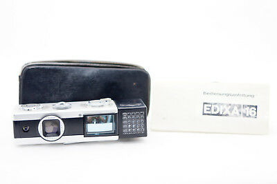Edixa 16 -u- 2.8/25mm Miniaturkamera Spy Camera Incl. Guide and Bag