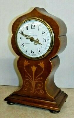 Fine W Batty Sons Liverpool Manchester French 8 Day Desk / Boudoir Clock Working