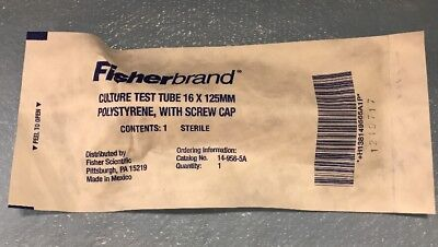 Fisherbrand 14-956-5A Culture Test Tube, 16 x 125 mm, Polystyrene - 1 each