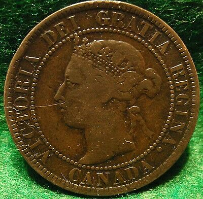 1897 High Grade CANADA LARGE CENT Victoria COIN CANADIAN <<