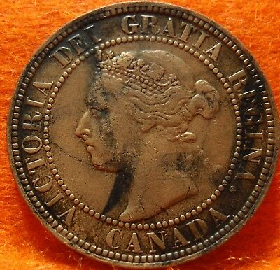 1898 XF-AU High Grade CANADA LARGE CENT Victoria COIN NoRes CANADIAN