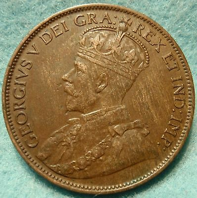 1912 XF-AU High Grade CANADA LARGE CENT Georgivs V COIN NoRes CANADIAN <