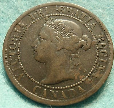 1895 CANADA LARGE CENT Victoria COIN No-Res CANADIAN