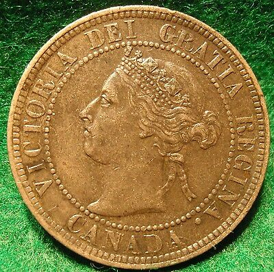 1901 XF-AU High Grade CANADA LARGE CENT Victoria COIN CANADIAN <..<..