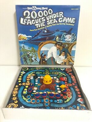 "1975 Vintage ""20000 Leagues Under The Sea"" Walt Disney World Board Game"