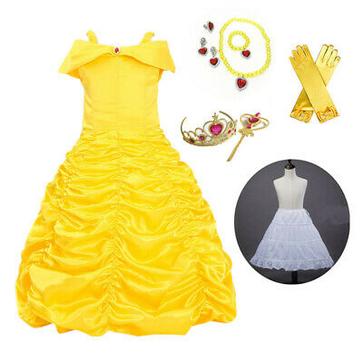 Children Girls Beauty And The Beast Kids Princess Belle Dress Up Set B1 Kids' Clothing, Shoes & Accs Clothing, Shoes & Accessories