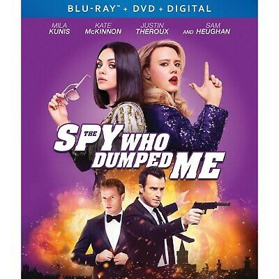 THE SPY WHO DUMPED ME Blu-ray/DVD/Digital (CASE,COVER,CODE,& ALL DISC)