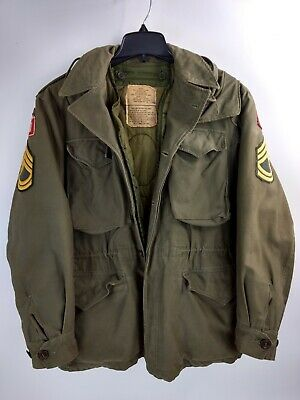 Army Field Coat/Jacket fully lined Staff Sergeant Stripes Patches 1977