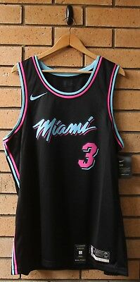 new style d25e6 be0a0 BNWT MIAMI HEAT Vice Dwyane Wade Nike Men's City Edition Nba ...