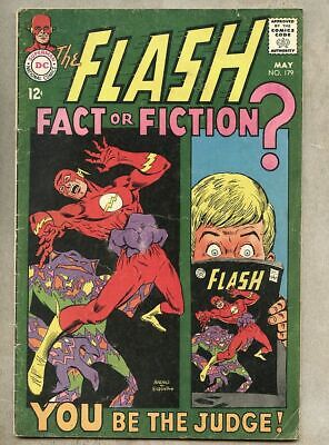Flash #179-1968 vg- 3.5 Ross Andru / 1st Earth Prime story