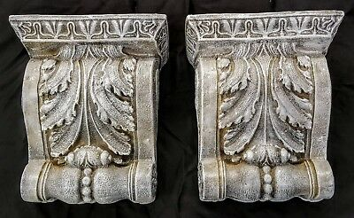 Vintage PAIR Shelf Acanthus leaf Wall Corbel Sconce Bracket Home Decor