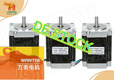 DE Delivery! Wantai 3pcs Stepper Motor Nema23 57BYGH627 3A 270oz-in 4-Wire Kit