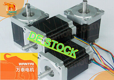 DE Delivery! Wantai 4pcs Stepper Motor Nema23 57BYGH627 3A 270oz-in 4-Wire Kit