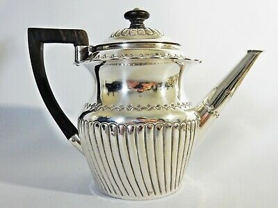 Antique Victorian 1886 Sterling Solid Silver Bachelors Small Teapot Tea Pot