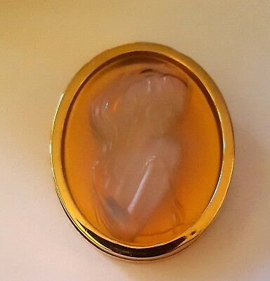 Brooch Lalique Cameo Exquisite Opalescent  Art Nouveau Style Stunning Rare