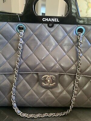 c67768855b1554 CHANEL GLAZED CALFSKIN Quilted Small CC Delivery Tote Light Pink ...