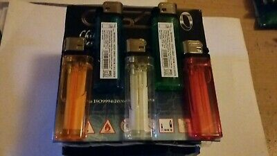 Disposable Lighters Prefilled Adjustable Flame GSD Child Safe Cigarette Flint ×5