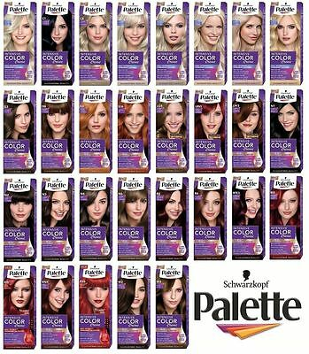 PALETTE INTENSIVE COLOR CREME PERMANENT HAIR DYE COLOUR WiTH MASK
