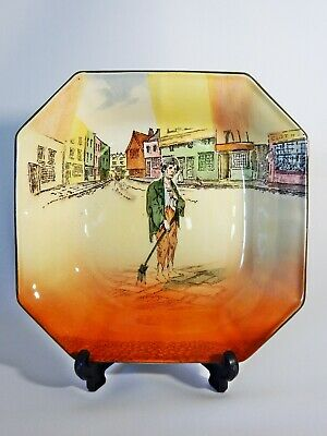 Antique Art Deco Royal Doulton Dickens Ware Poor Jo Octagonal Serving Bowl Dish
