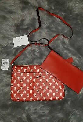 f2d8ee4b8143f NWT Coach East/West Crossbody With Pop Up Pouch In Badlands Floral Print  F38159