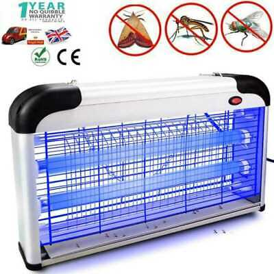 20W Electric UV Tubes Bulb Lamp Insect Killer Mosquito Trap Zapper Light Catcher