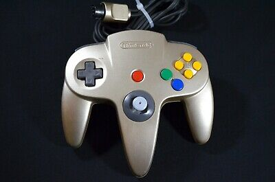Authentic Official Nintendo 64 Gold Controller OEM N64 Rare Tested Free Shipping