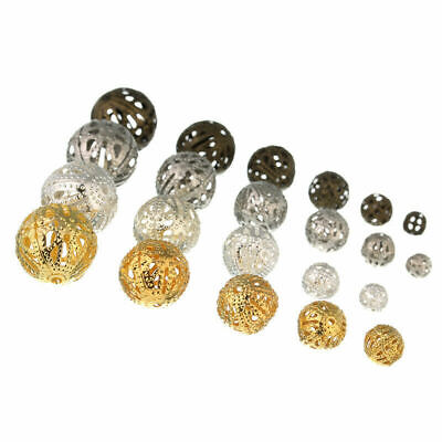 Filigree Round Accent Spacer Beads For Jewelry Making Findings 4mm-16mm