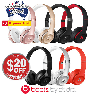 The New Beats by Dre Solo3 Wireless On-Ear Headphones - IN BOX -  Express Post