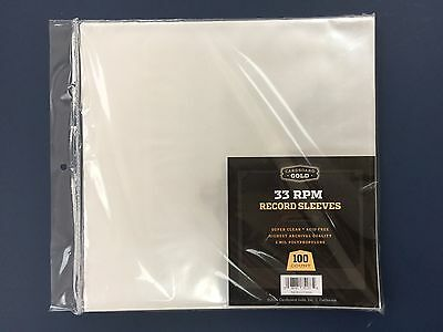 "300 CBG 33RPM LP Record Album Archival 2-Mil Clear Outer Poly Bags 12"" Sleeves"