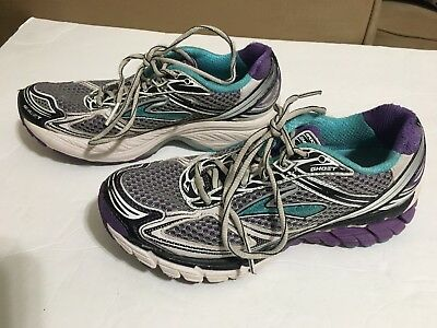 869fde09a93 Womens Brooks Ghost 5 Running Sneakers Sz 8 Training Shoes Purple Teal Gray