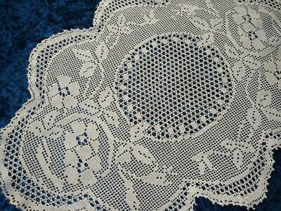 Antique MARY CARD Design 'Briar Rose' 1933   Filet Hand Crochet Centre/mat