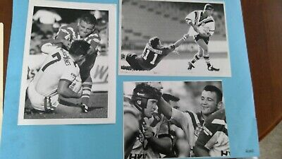 5 x Rugby League Press Photos. Jim Serdaris Wests and Canterbury 1993 & 1994