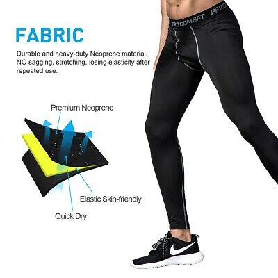 Men's Compression Pants Baselayer Cool Dry Sports Tight Legging Fitness Running