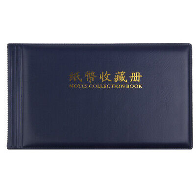 20 Pockets Collection Leather Note Paper Money Album Coins Banknote Stamps Photo