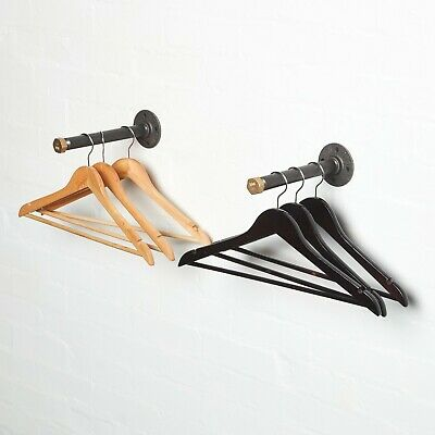 Industrial Pipe Fitting Clothes Rail/Hanger Made From Brass + Iron Pipe Fittings