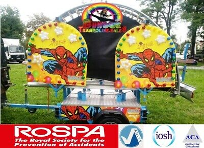 Four Bed Mobile Trailer Mounted Bungee Trampolines, FULLY ADIPS DESIGN REVIEW
