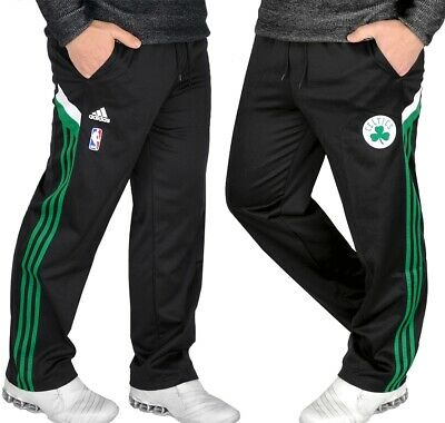 ADIDAS BOSTON CELTICS Pant Men Herren Trainingshose Jogging Hose schwarzgrün