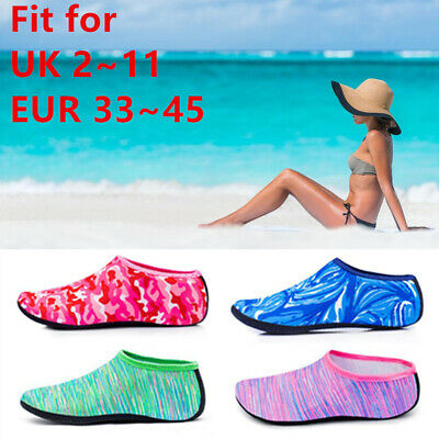 Unisex Shoes Summer Surf Mens Womens Kids Water Socks Slip On Sea Wet Beach Swim