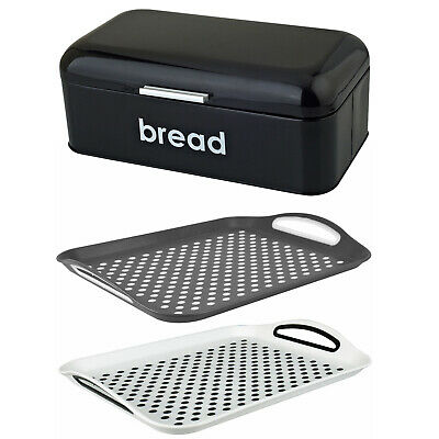 Home, Furniture & Diy Tireless Bread Bin Stainless Steel Kitchen Storage Black Rose Gold Lid Roll Top